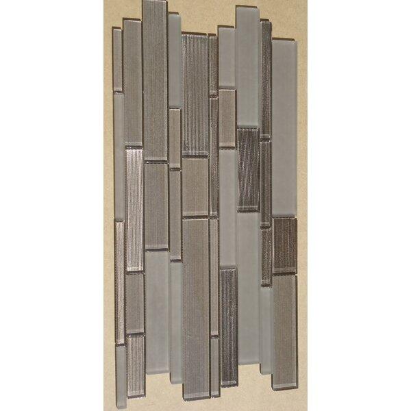 Studio Random Sized Glass Mosaic Tile in Brown by Mulia Tile