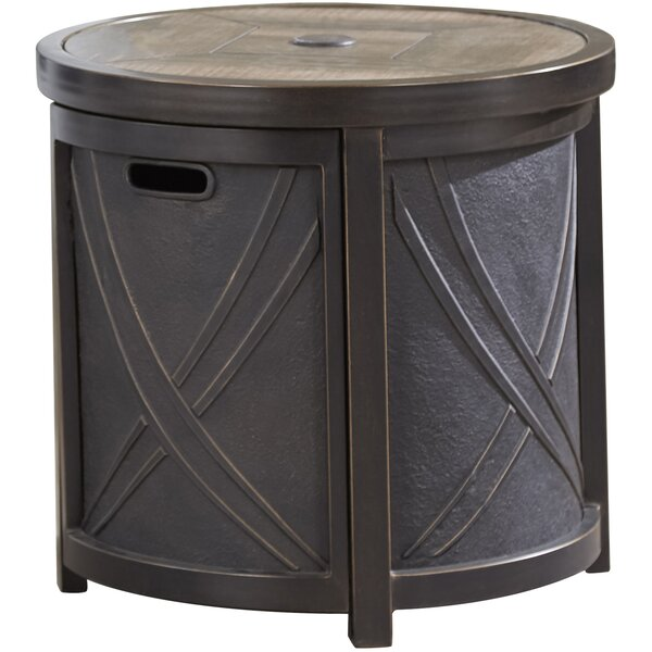 Aluminum Side Table by Bayou Breeze