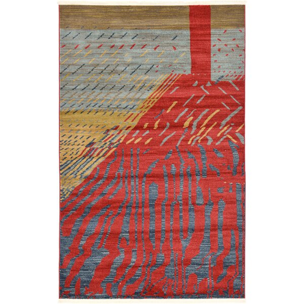 Foret Noire Red Area Rug by World Menagerie