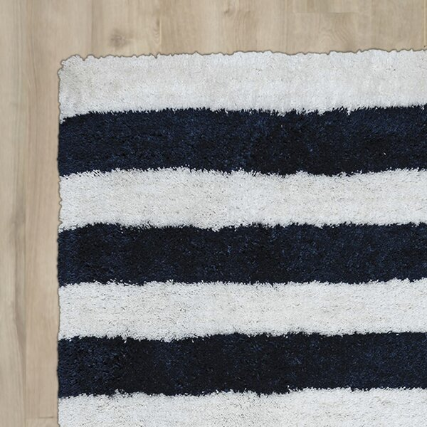 Dublin Hand-Tufted Navy/Ivory Area Rug by Breakwater Bay