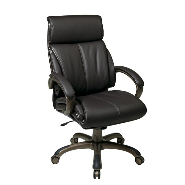 Work Smart High-Back Leather Executive Chair by Office Star Products