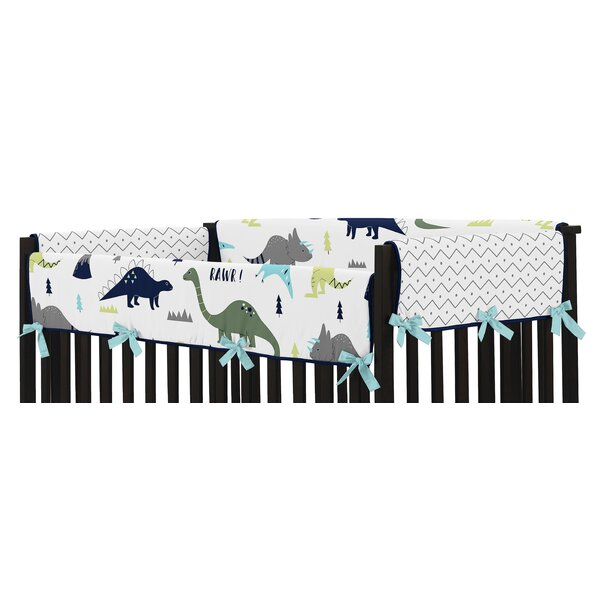 Mod Dinosaur Crib Side Rail Guard Cover (Set of 2) by Sweet Jojo Designs
