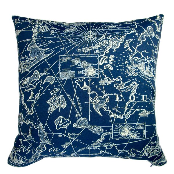 Cheesman Coastal Nautical Indoor/Outdoor Pillow by Longshore Tides
