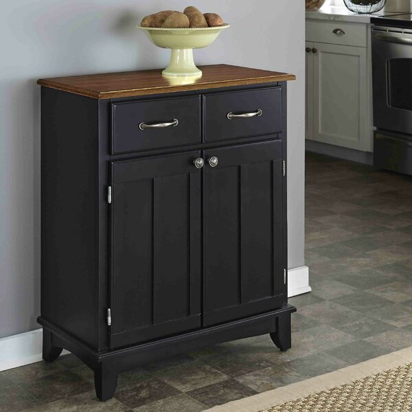 Ferris 2 Drawer Wood Server by Three Posts