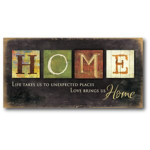 'Home' Textual Art on Wrapped Canvas by Red Barrel Studio