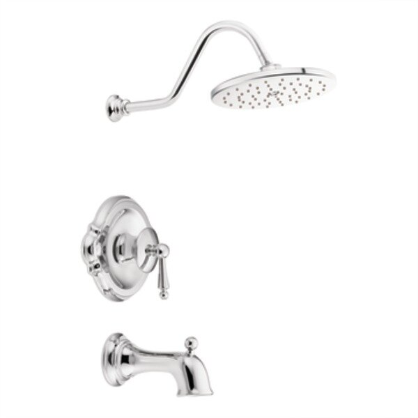 Waterhill One Handle Posi-Temp Tub and Shower Trim by Moen