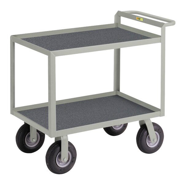 24 x 53.5 Utility Cart with Hand Guard with Non-Slip Vinyl Matting by Little Giant USA