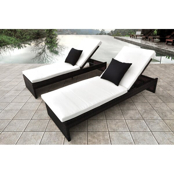 Plenus Chaise Lounge with Cushion by Solis Patio
