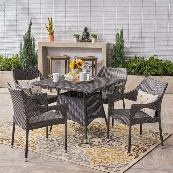 Trumbull 5 Piece Dining Set by Wrought Studio