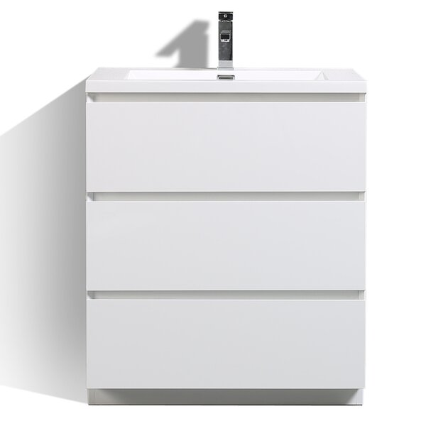 Riker Free Standing 30 Single Bathroom Vanity Set by Orren Ellis