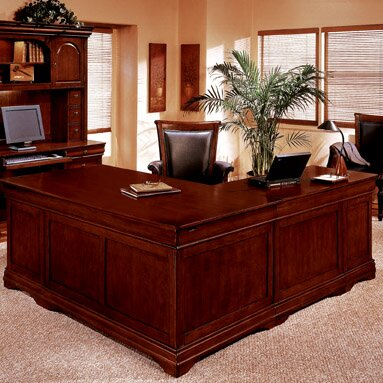 Flannagan 72 L-Shape Executive Desk by Three Posts