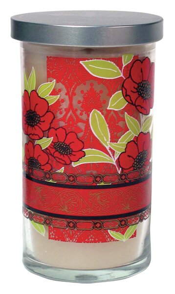 Lime and Mandarin Orange Designer Candle by Acadian Candle