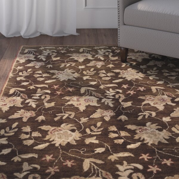 Goodrum Hand-Tufted Brown/Beige Area Rug by Charlton Home