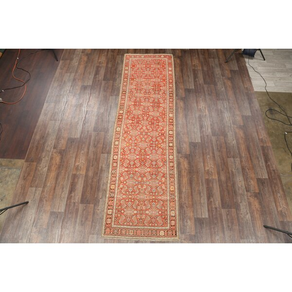 Birdsview Caucasian Kazak Russian Oriental Hand-Knotted Wool Beige/Orange Area Rug by Bloomsbury Market