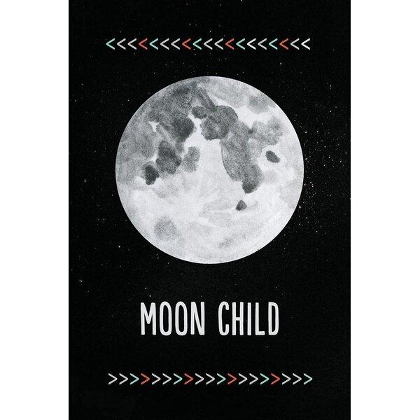 Moon Child Paper Print by Children Inspire Design