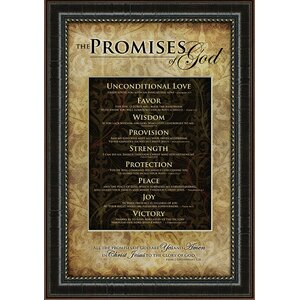 Biblical 'Promises of God' Textual Art by Carpentree