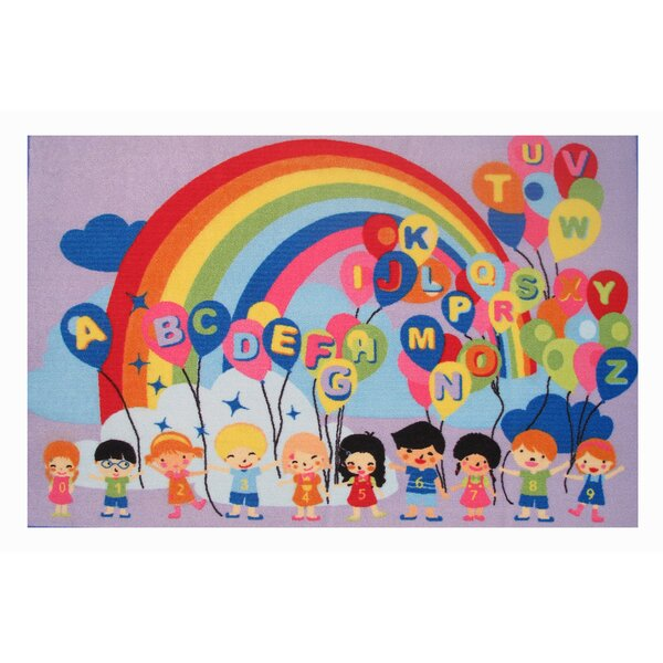 Fun Time Educational Balloons Kids Rug by Fun Rugs