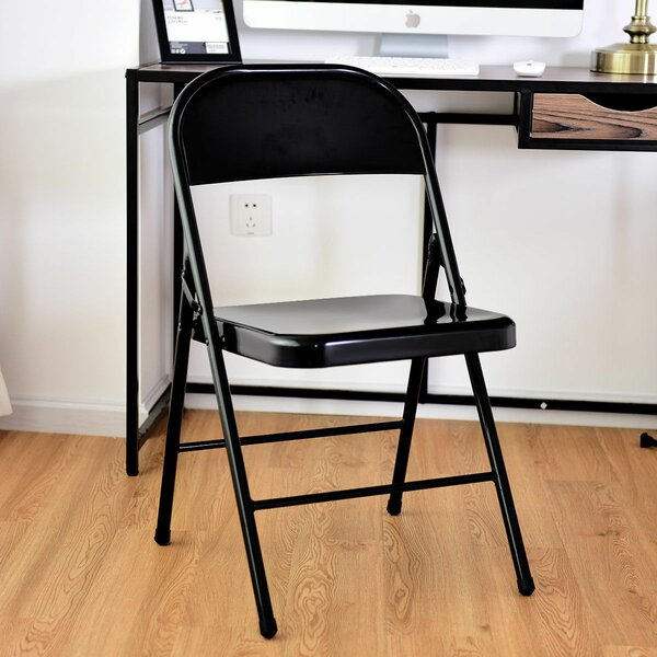 Metal Folding Chair (Set of 4) by Costway