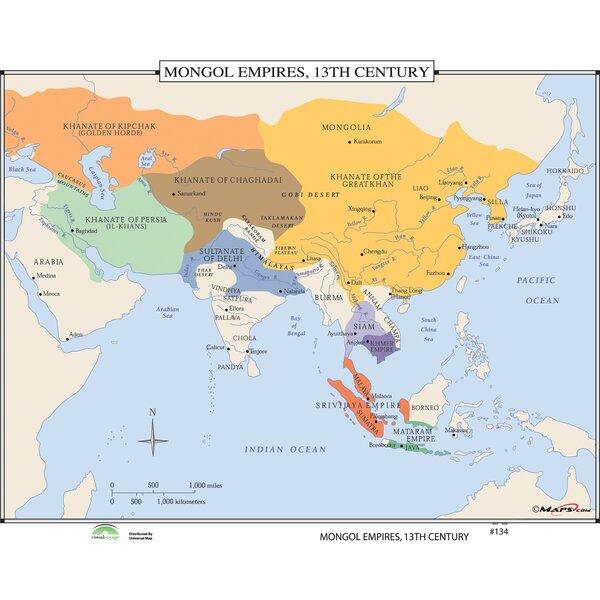 Universal map world history wall maps mongol empires 13th century universal map world history wall maps mongol empires 13th century reviews wayfair publicscrutiny Gallery