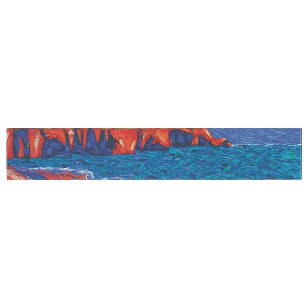 Jeff Ferst Sea Shore Painting Table Runner by East Urban Home