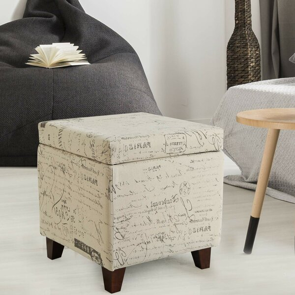 Samir Script Square Tufted Storage Ottoman by Ophelia & Co.