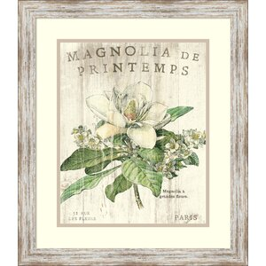 Magnolia de Printemps Framed Painting Print by One Allium Way