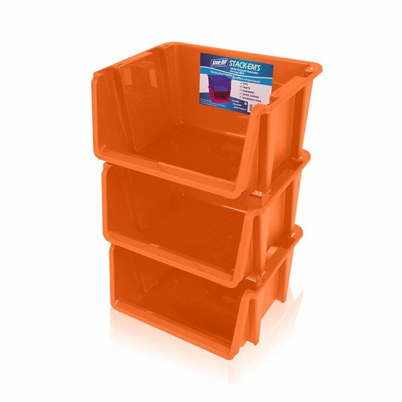 rebrilliant stack ems stackable storage bin - Stackable Storage Bins