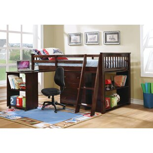 Washburn Twin Low Loft Bed With Drawers And Shelf