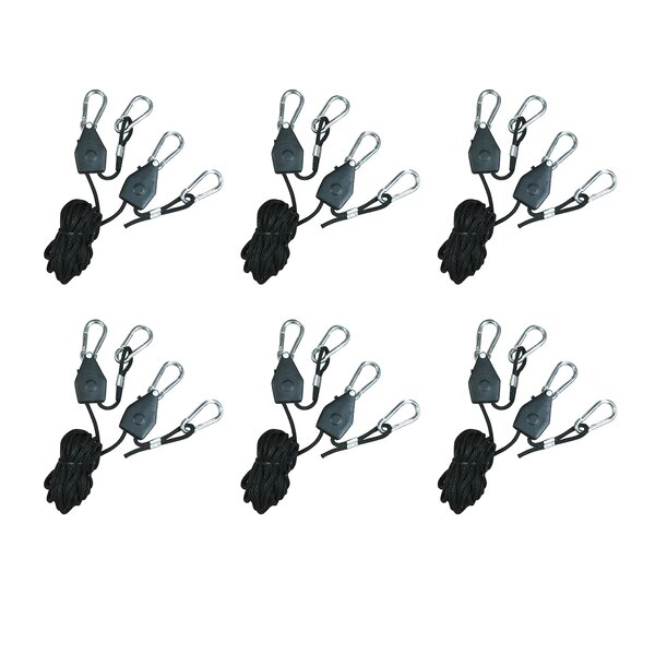 Heavy Duty Adjustable Rope Clip Hanger (Set of 6) by Hydroplanet