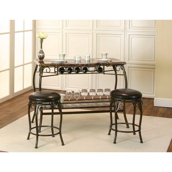 Tekamah 3 Piece Counter Height Dining Set by Fleur De Lis Living Fleur De Lis Living