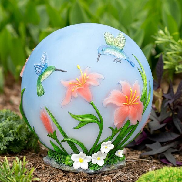 Color-Changing Hummingbird Gazing Globe by Wind & Weather