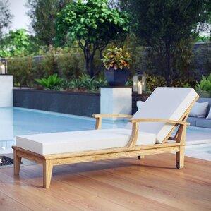 Teak Chaise Lounge Chairs teak outdoor lounge chairs you'll love | wayfair