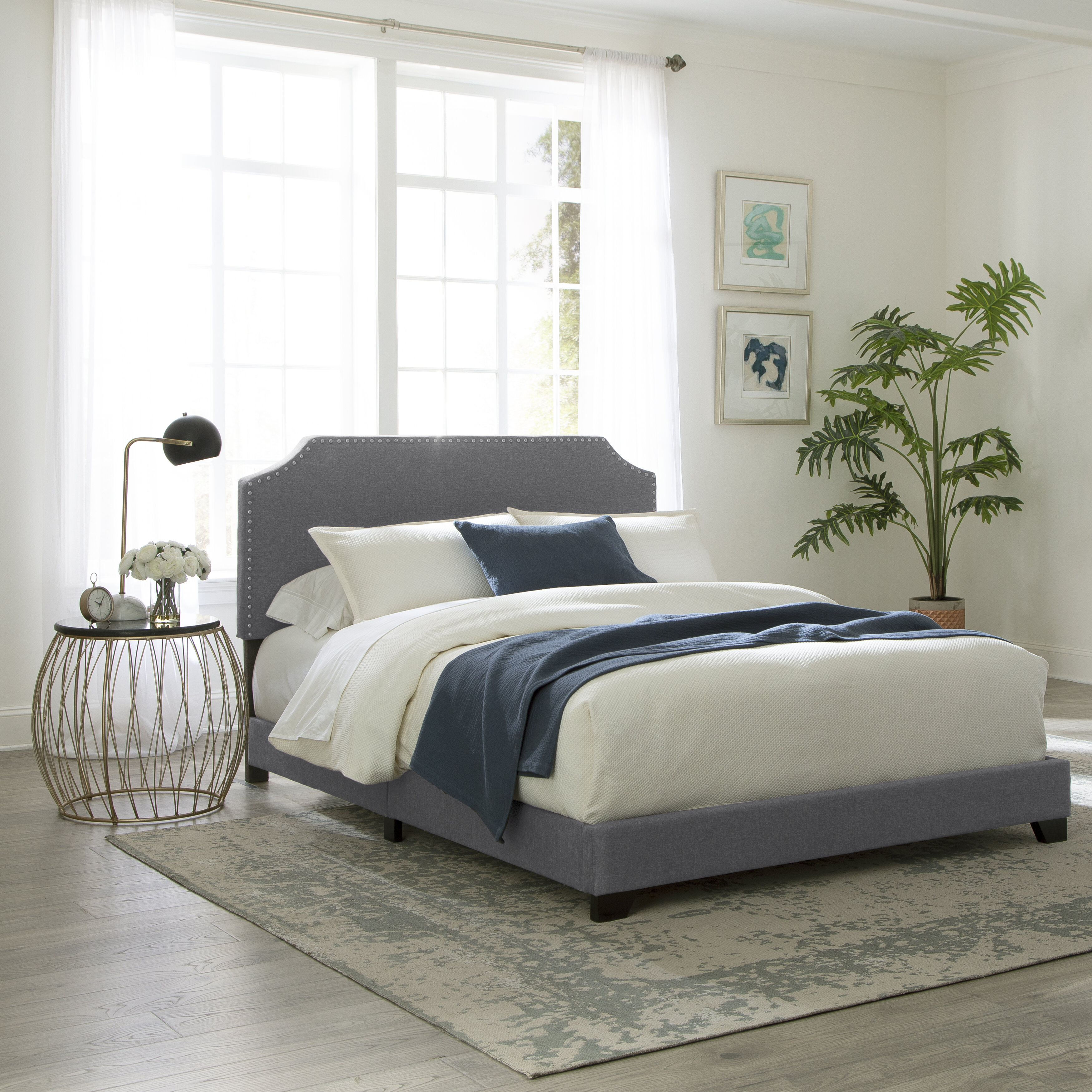 sale retailer 66b9f 40f12 Kyara Upholstered Standard Bed