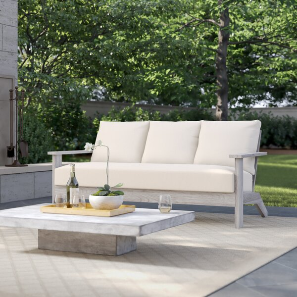 Ashland Teak Patio Sofa with Cushions by Summer Classics
