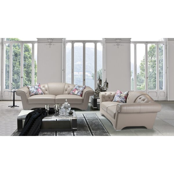 Orchimont 2 Piece Leather Living Room Set by Rosdorf Park