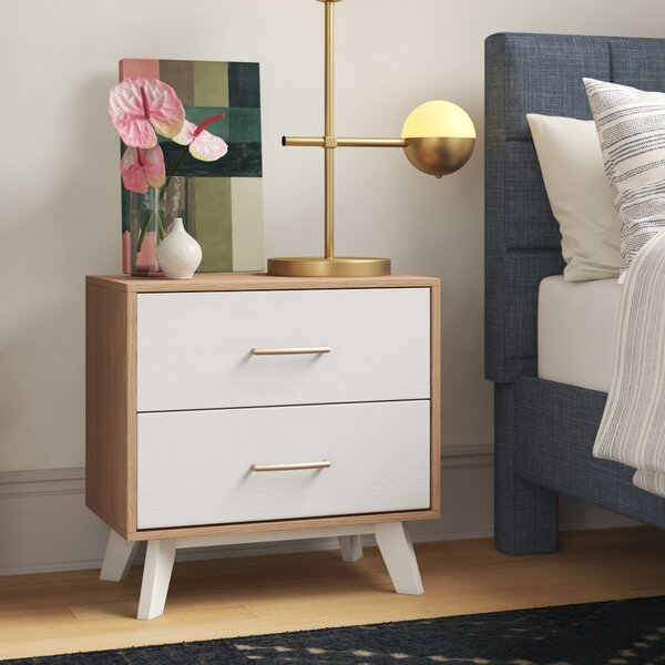 Adam 2 Drawer Nightstand by Foundstone