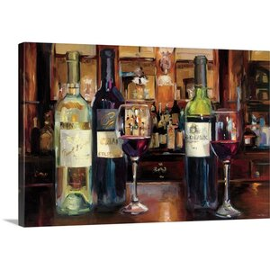 'A Reflection of Wine' by Marilyn Hageman Painting Print on Wrapped Canvas by Great Big Canvas
