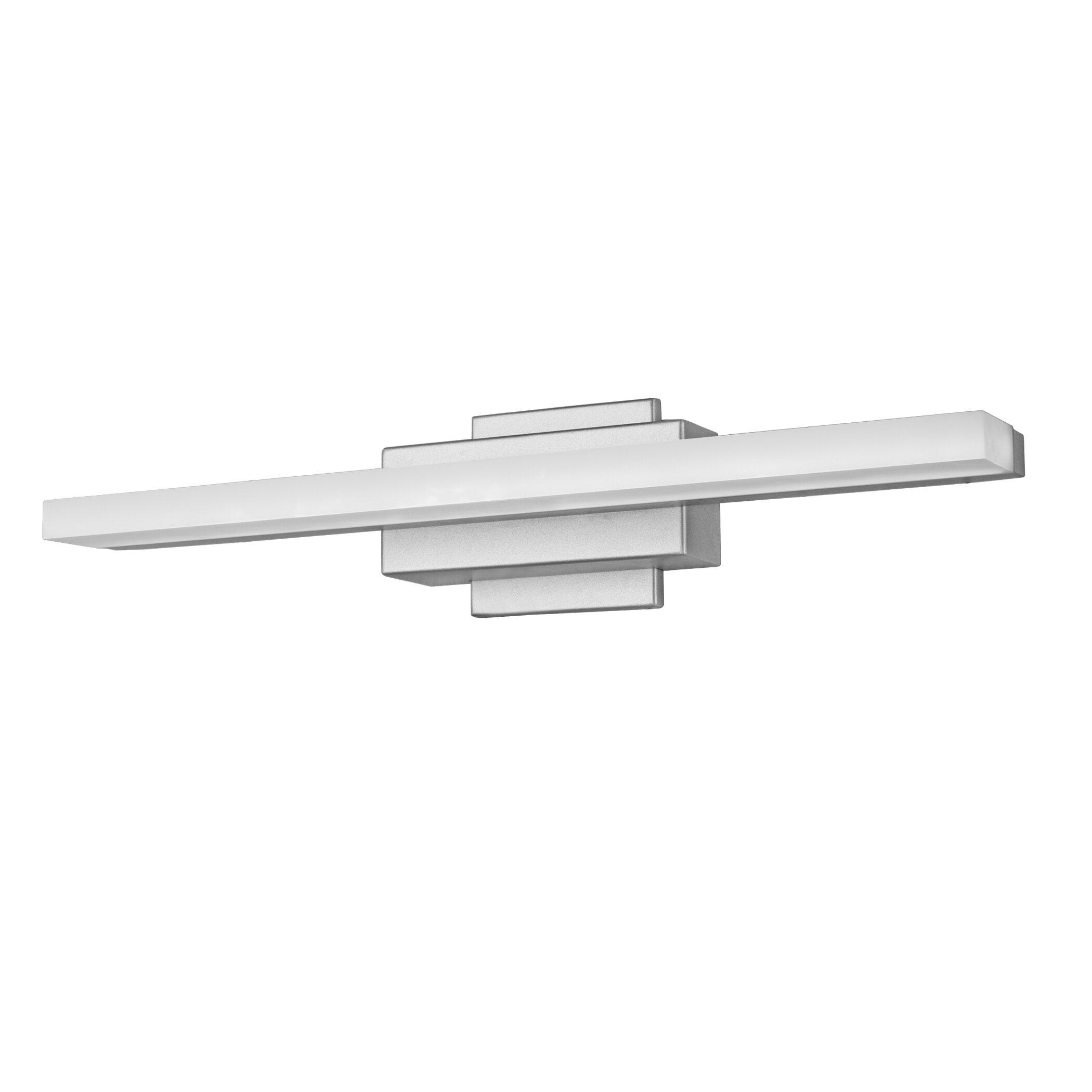 Armendariz 1 Light Dimmable Led Silver Bath Bar Allmodern