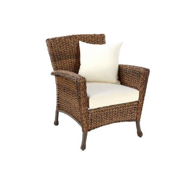 Whobrey Outdoor Garden Patio Chair with Cushions by Highland Dunes