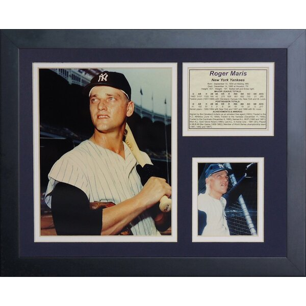 Roger Maris Framed Memorabilia by Legends Never Die