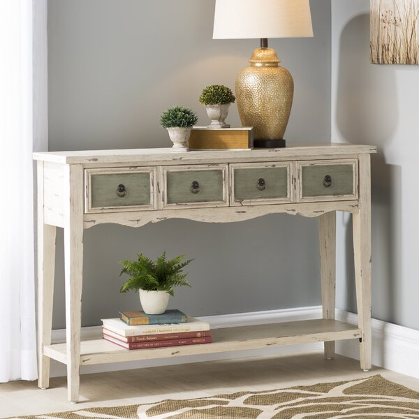 August Grove Lula 4 Drawer Console Table & Reviews by August Grove