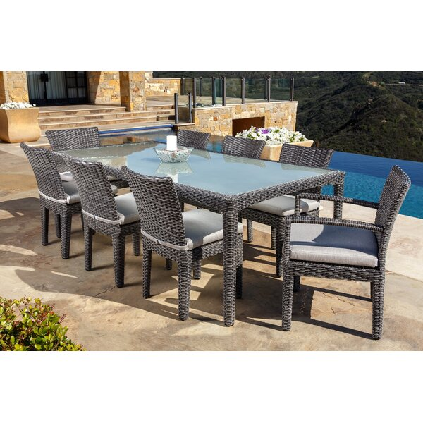 Beam 9 Piece Sunbrella Dining Set by Brayden Studio