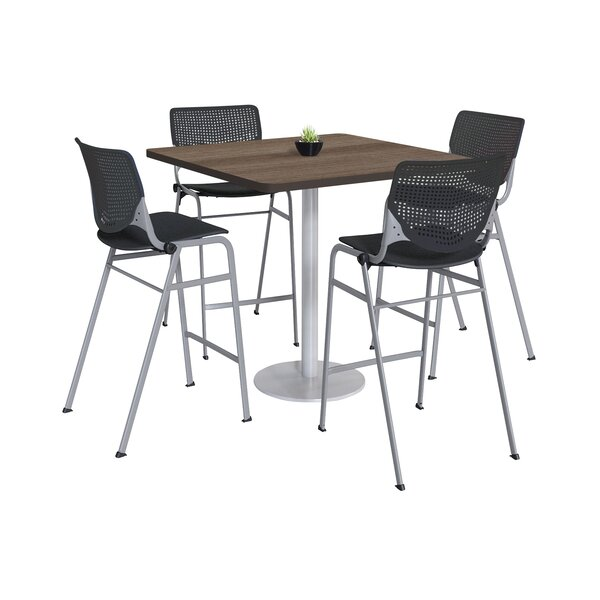 Lundell Bistro 5 Piece Pub Table Set by Latitude Run