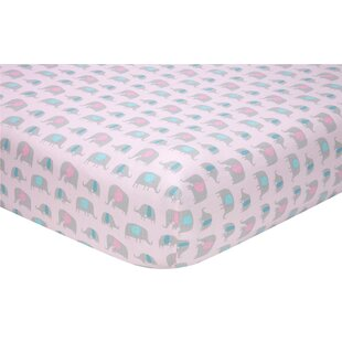Order Rishaan Elephant Fitted Crib Sheet ByHarriet Bee