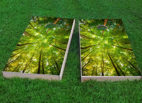 Trees Cornhole Game (Set of 2) by Custom Cornhole Boards
