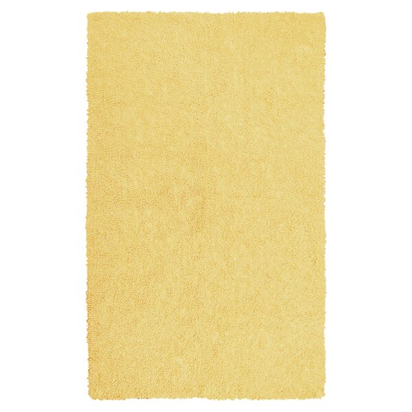 Bouvier Canary Yellow Area Rug by Wrought Studio