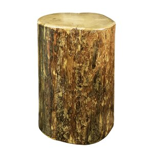 Tustin Cowboy Stump End Table by Loon Peak