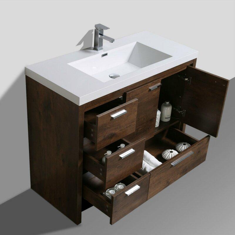 Almendarez Free Standing Modern 41 Single Bathroom Vanity Set
