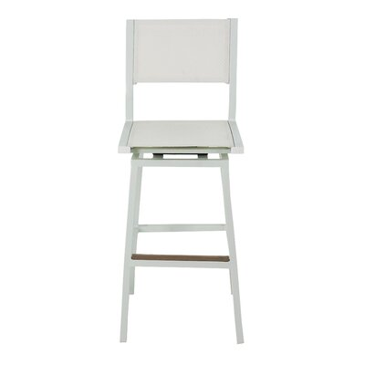 Marvelous Marina 29 Swivel Bar Stool Brayden Studio Finish White Gmtry Best Dining Table And Chair Ideas Images Gmtryco