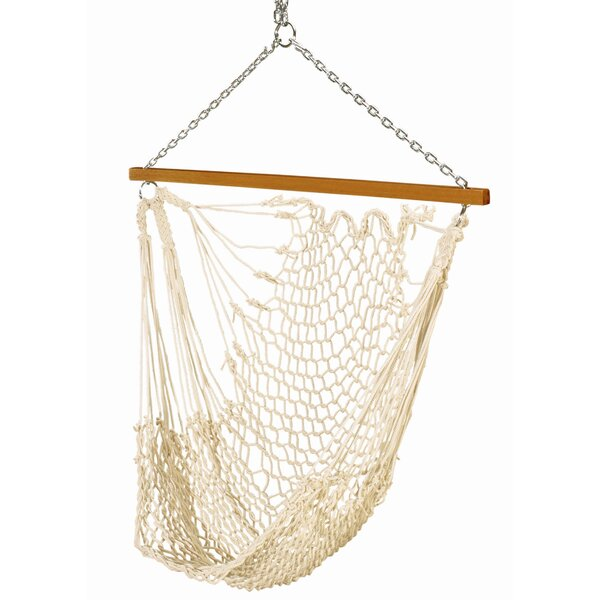 Dionisio Single Cotton Rope Chair Hammock by Bungalow Rose